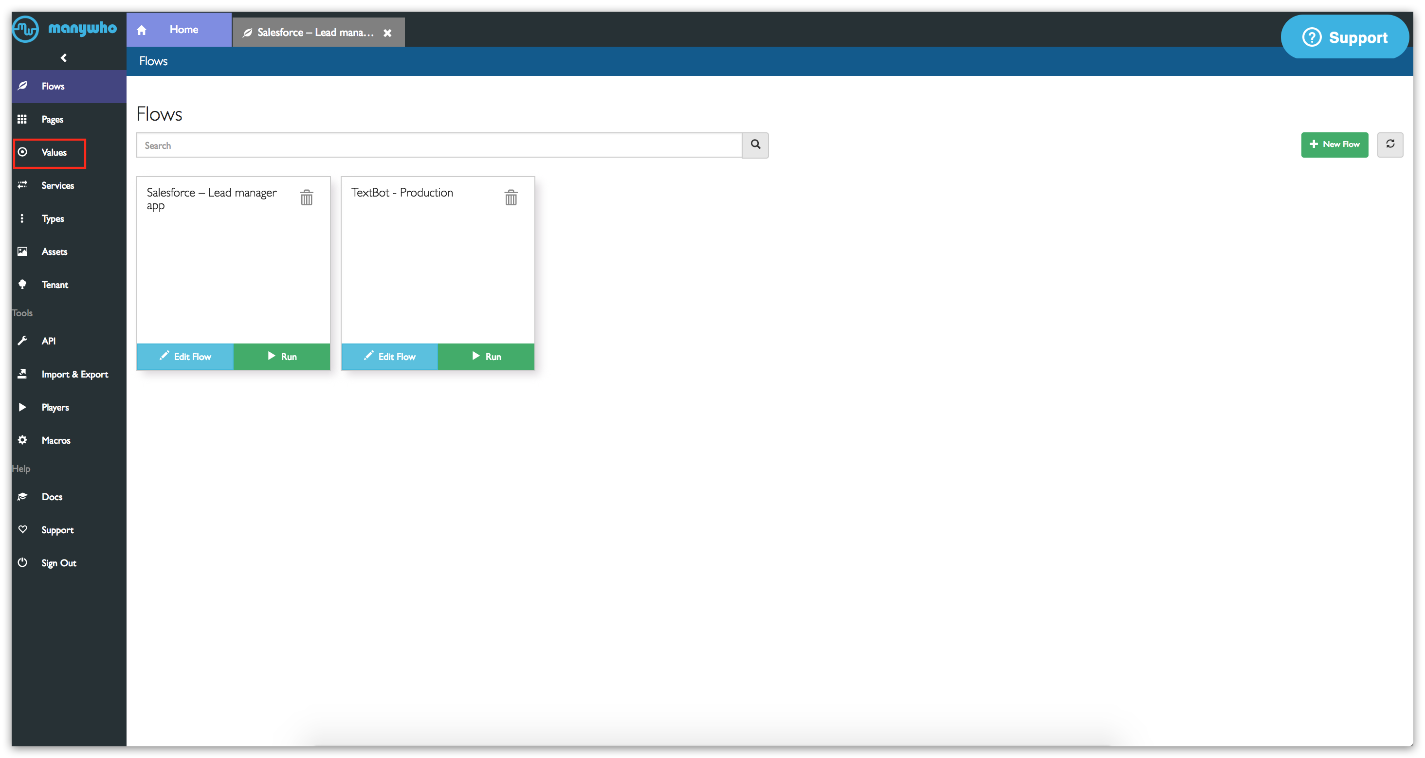 Tutorial: Passing data from Salesforce to a flow - Boomi