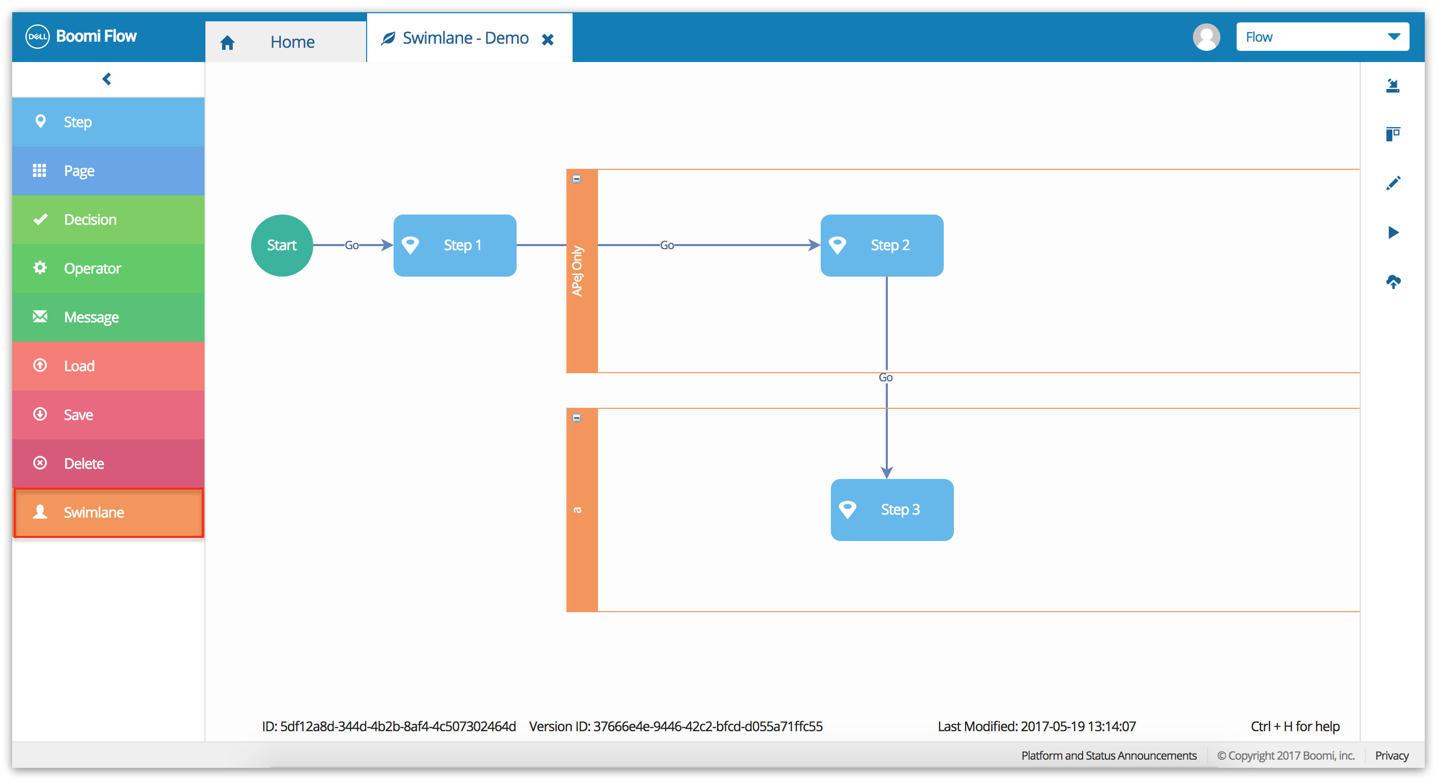 Flow Quick Concepts Boomi Documentation Help Service Process Diagram With Swimlanes To Use We Configure The Authorization Strategy For Swimlane And Drag Elements Inside It